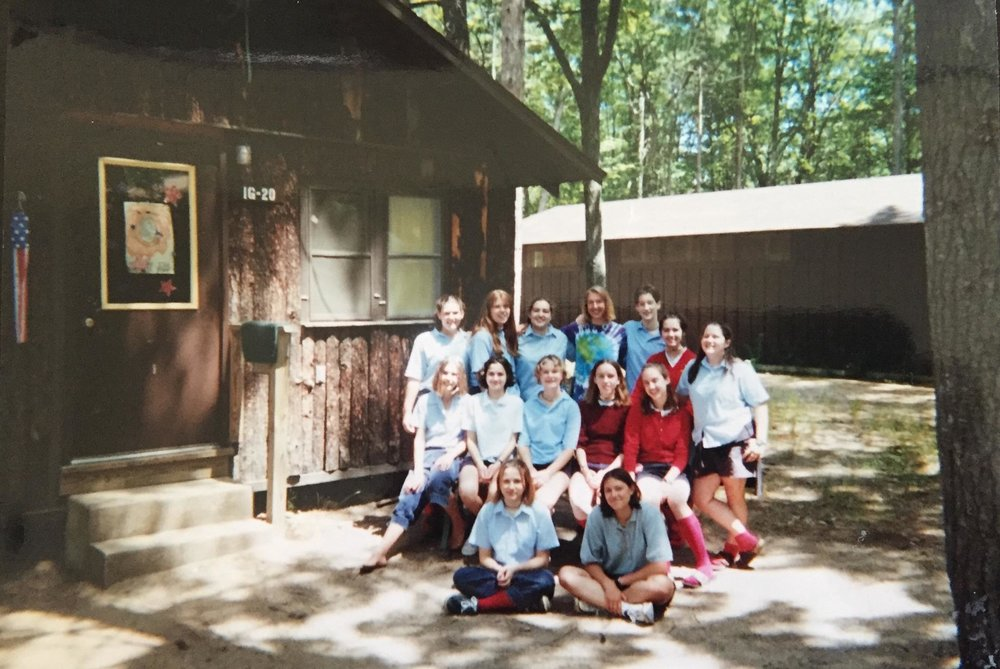 Our awesome cabin! So many amazing ladies in this group. Can you spot me?