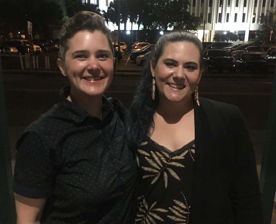 Andrea and I outside of the Straz after the show. It was so nice to catch up and meet her husband.