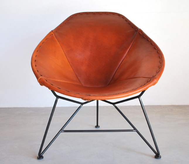 Garza Furniture | oval saddle leather chair