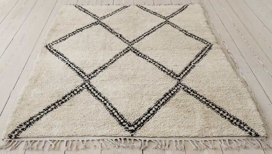 the apartment - vintage moroccan rug
