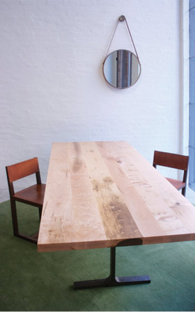 Bronze Trestle Table by BDDW