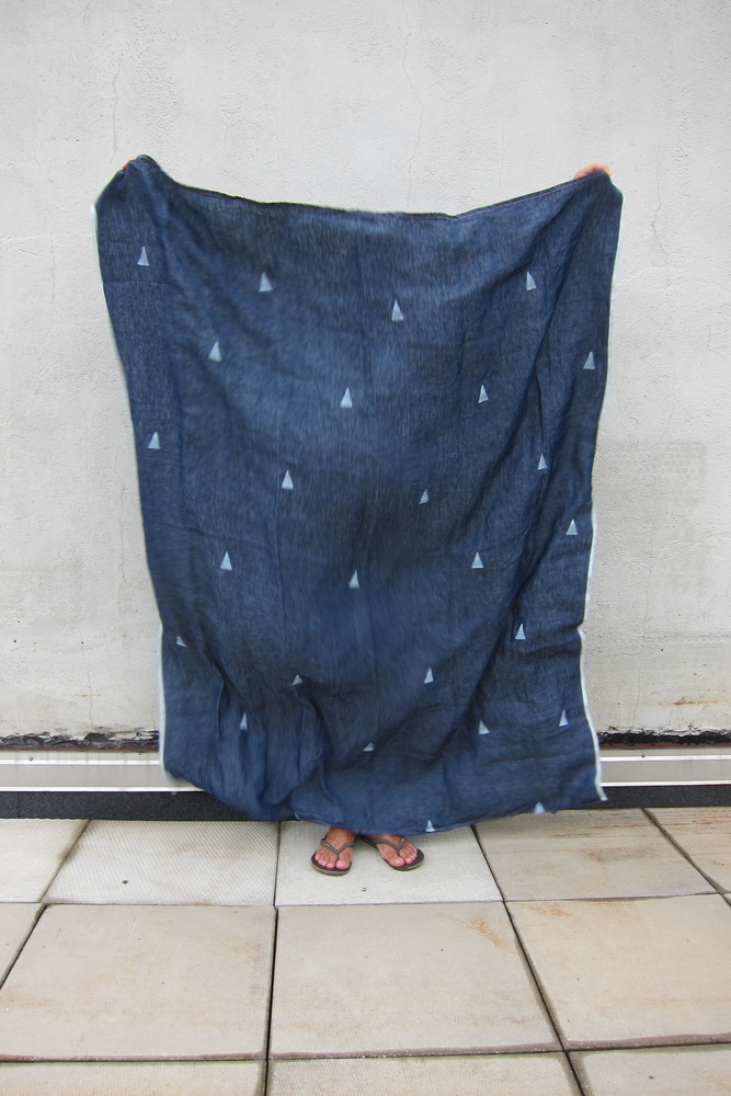 Linen Throw, Hannah Denim (caroline z hurley)