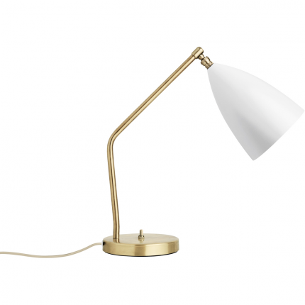 grasshopper brass table lamp - matte white