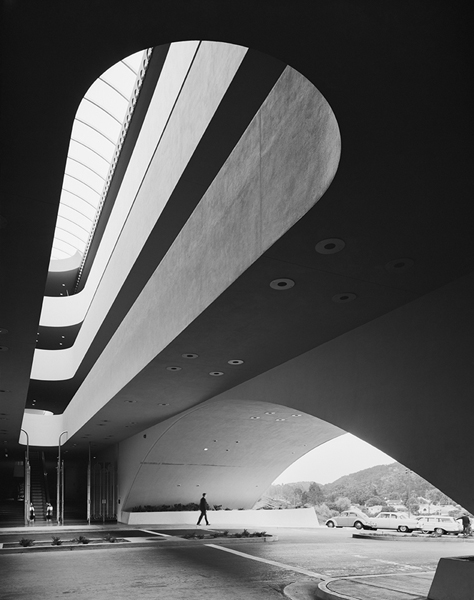 Ezra stoller photograph: Marin County Civic Center, CA, Frank Lloyd Wright