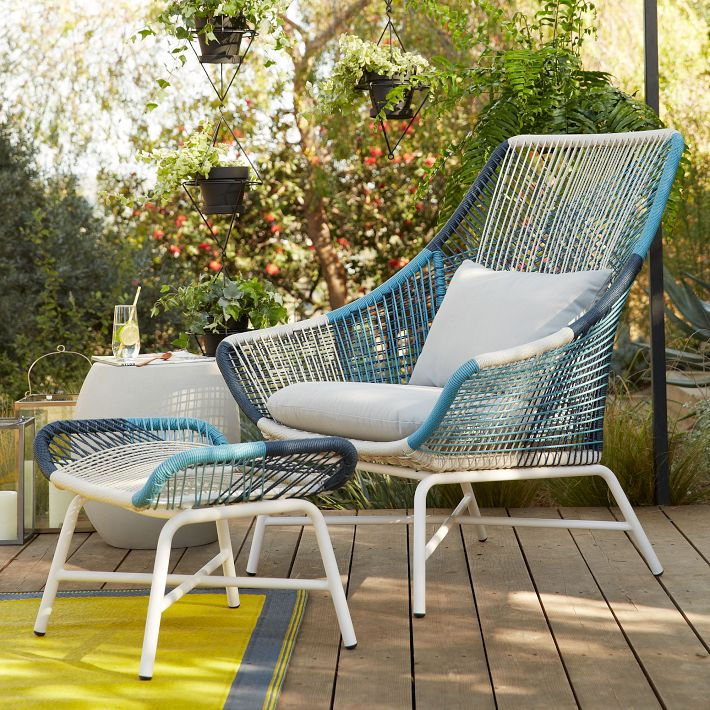 Huron Large Lounge Chair & Ottoman by West Elm