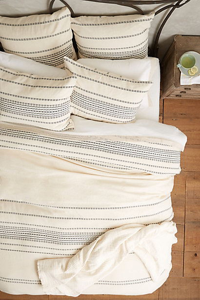 Rippled Stripe Duvet / Anthropologie