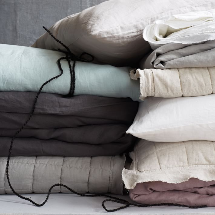 Belgian linen duvet covers & shams / west elm