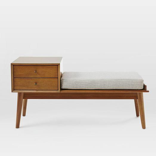 West Elm // mid-century bench