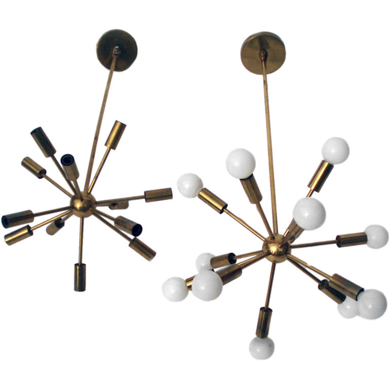 brass sputnik pendant light