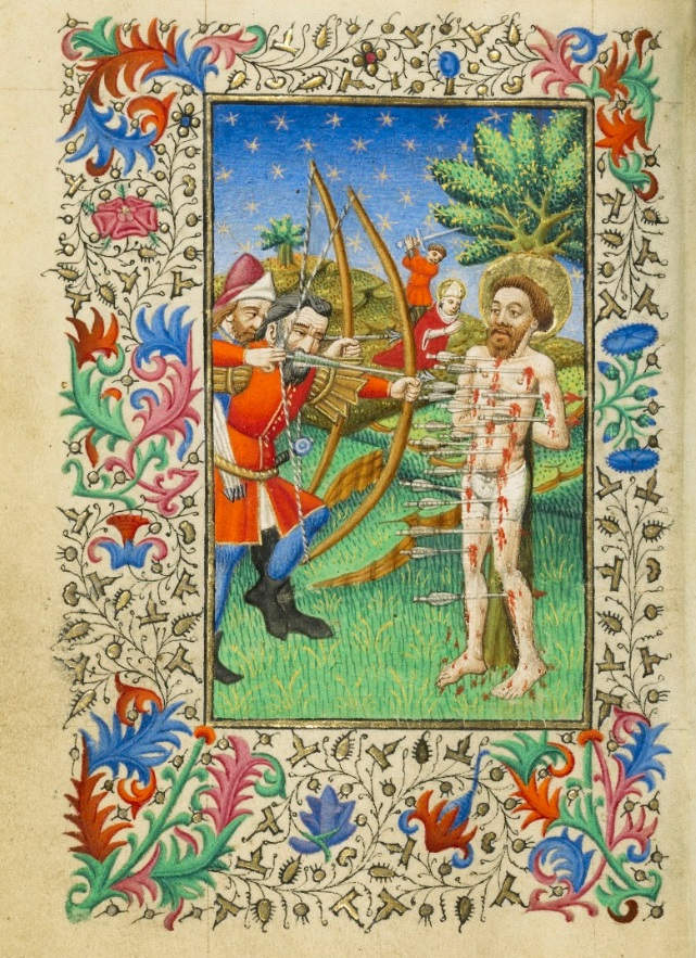 The Martyrdom of Saint Sebastian, about 1430–40, Master of Sir John Fastolf.