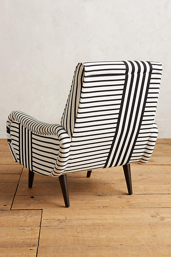 Banded Stripe Losange Chair