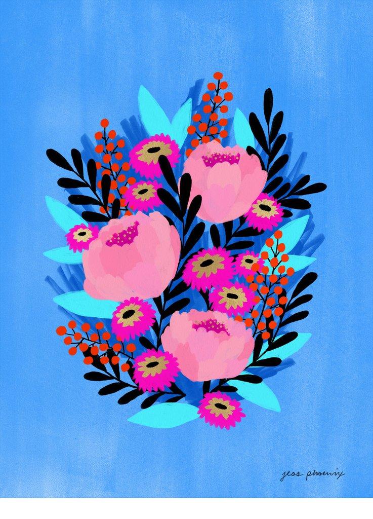 Anemone Print by Jess Phoenix