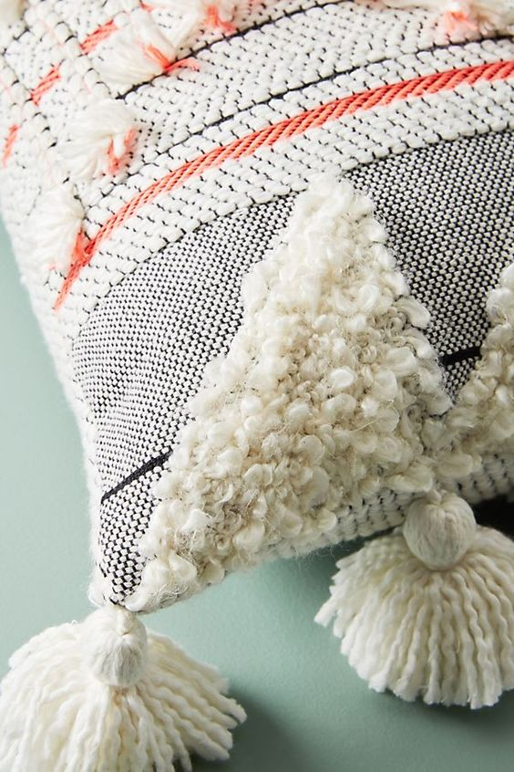 Woven edna pillow - anthropologie