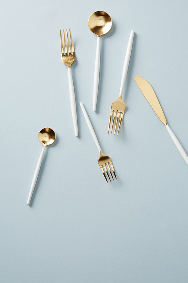 ANTHROPOLOGIE cloud-dipped flatware