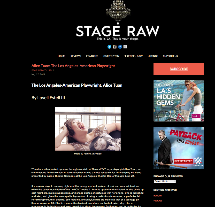 Stage Raw // Steven Morris e-Mag