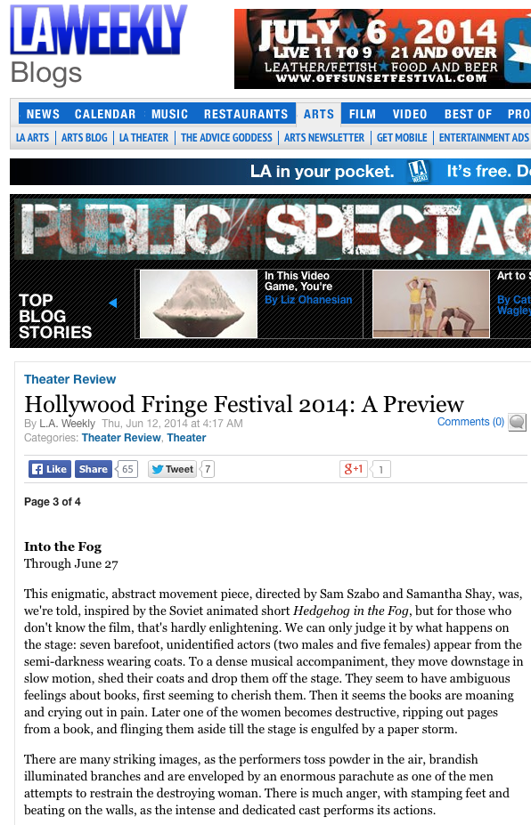 LA Weekly // Review