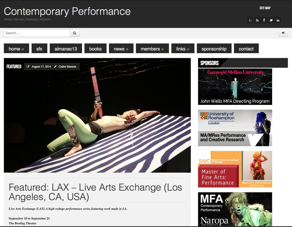 CONTEMPORARY PERFORMANCE // Event Preview