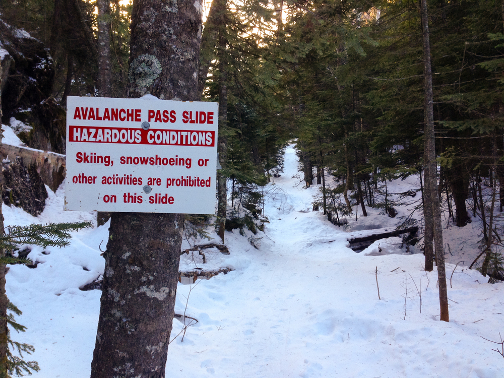 Avalanche Pass Hazard Sign