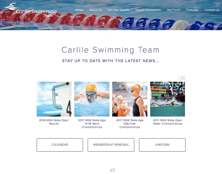 Visit Carlile Swimming Team