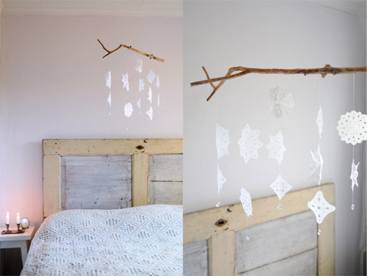 Homemade Hanging Mobile via  Creature Comforts Blog