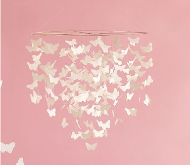 Pottery Barn Kids Hanging Butterfly Mobile