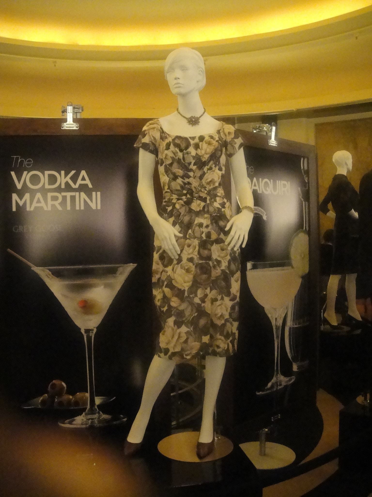 A  vintage dress on display at the Carlu