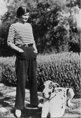 Chanel in Breton stripes via The Marion House Book
