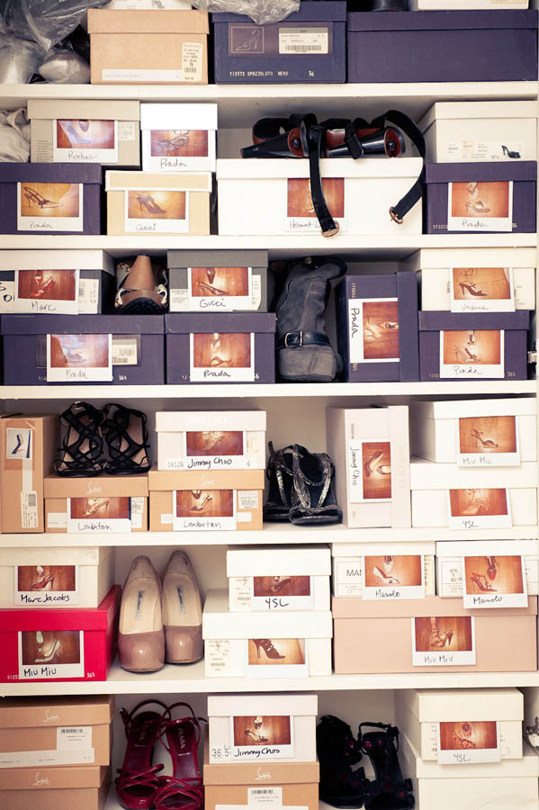 A  peek into the shoe closet of Tracy Taylor, US Editor of Net-a-Porter.com. Via The Coveteur
