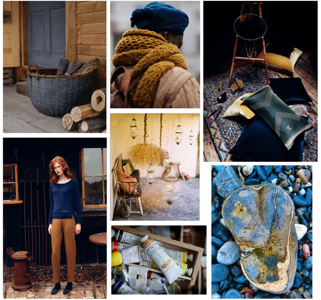 Colour Palette- Moody Blue & Ochre