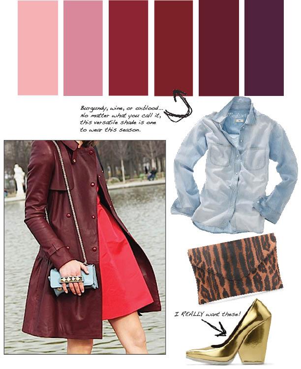 Burgundy – How to Wear