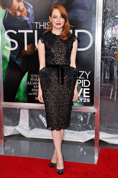 Emma Stone in Tom Ford, Crazy, Stupid, Love world premiere, 2011.