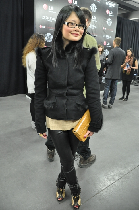 Sharon at World MasterCard Fashion Week in Toronto, 2012.