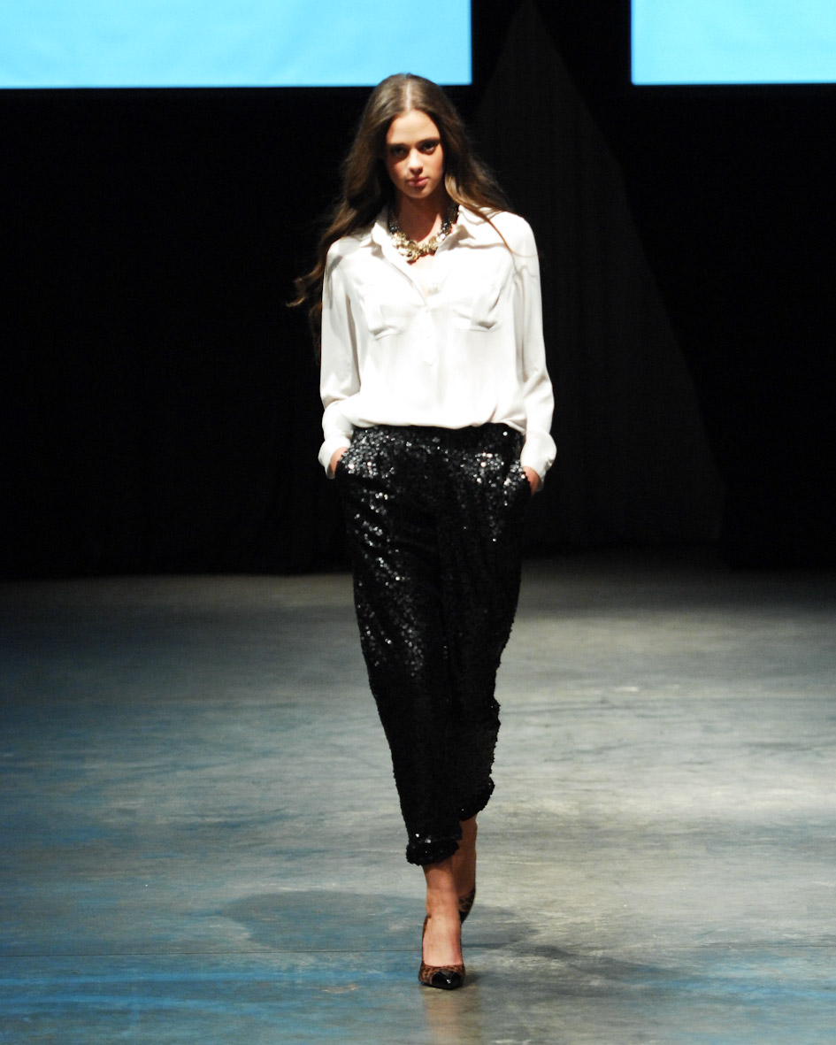 Alia's favourite piece of the moment. Sequin pants, LOFT.