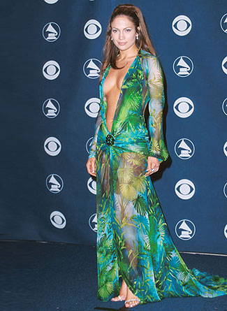Jennifer Lopez in Versace. Grammy's, 2000.