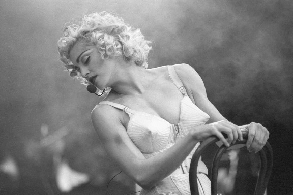 Madonna in Jean Paul Gaultier. Blonde Ambition Tour, 1990.