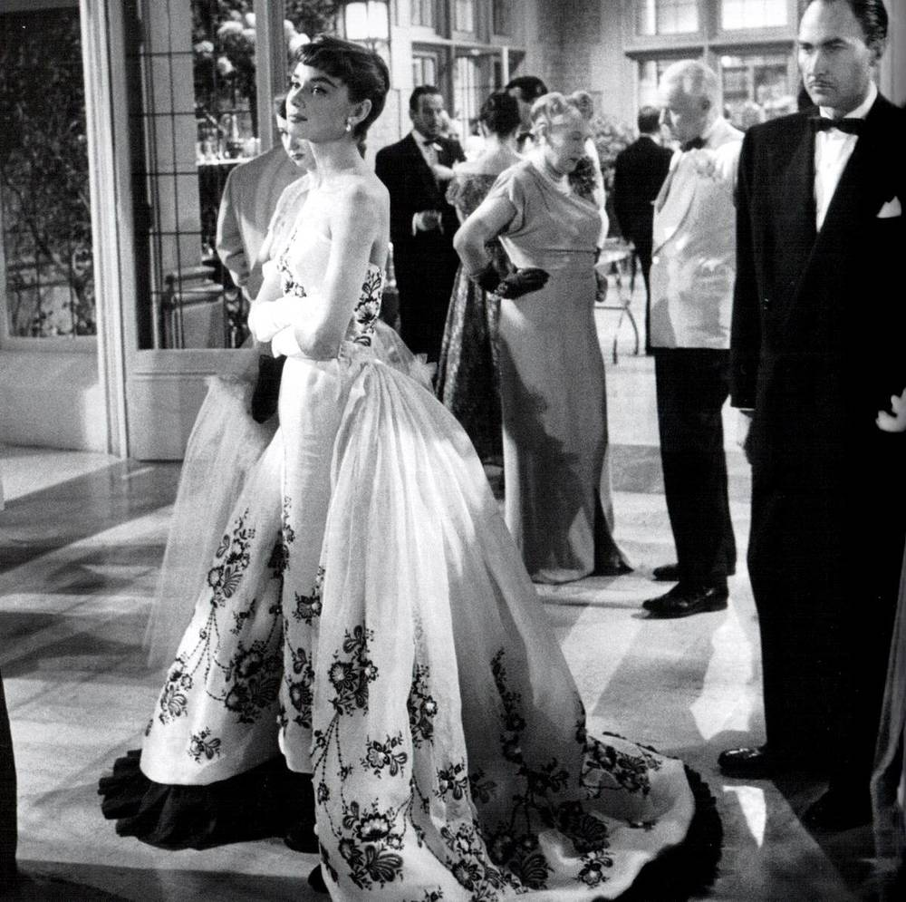 Audrey Hepburn in  Sabrina .