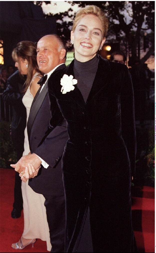 Sharon Stone in Gap turtleneck. Oscars, 1996.