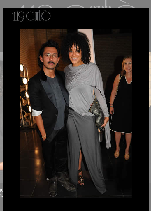 Haider Ackermann tank, wrap jacket & skirt, Jimmy Choo moto bag, Alexander McQueen sandals. With Haider Ackermann at his 119 Corbo show, The Royal Ontario Museum.