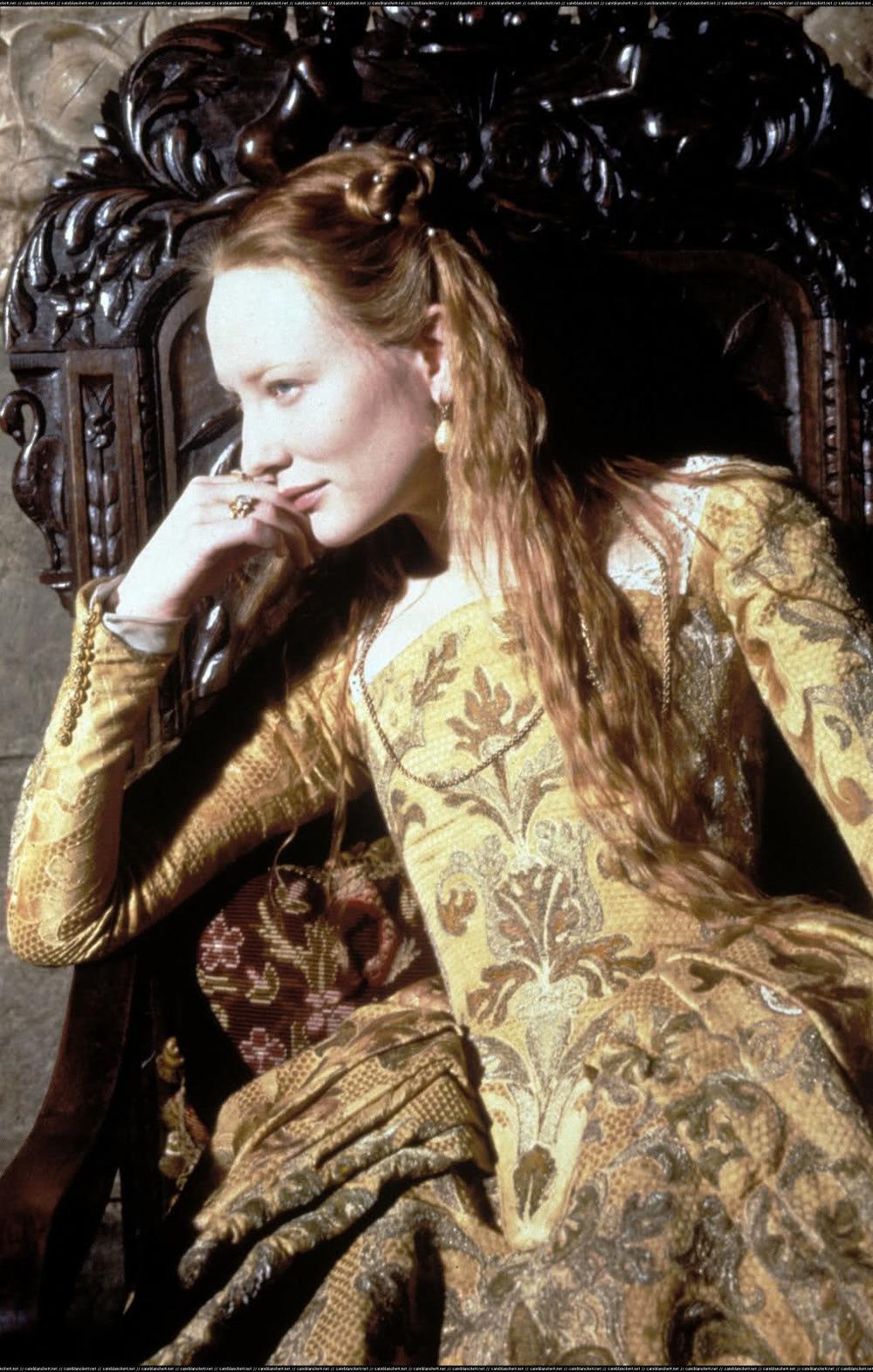 Cate Blanchett in  Elizabeth .