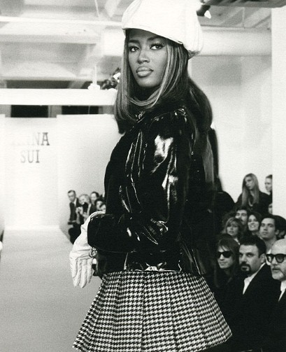 Naomi Campbell. Anna Sui, F/W 1991.