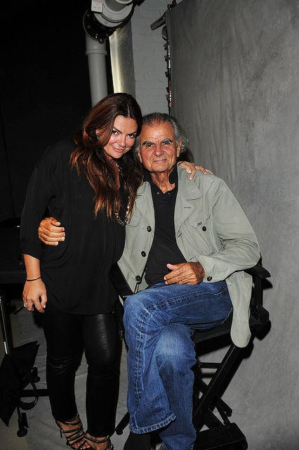 With Patrick Demarchelier.