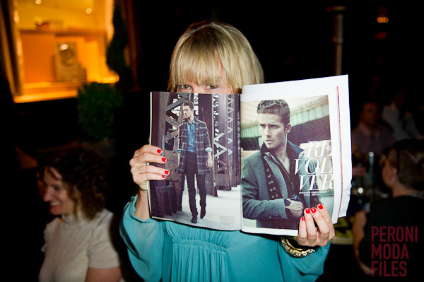 Dress to Kill  TIFF party, wearing Diane von Furstenberg. Holding her styled editorial. Photo: Kevin Gonsalves.