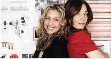 Kristy Wieber (left) with business partner Lisa Delorme.