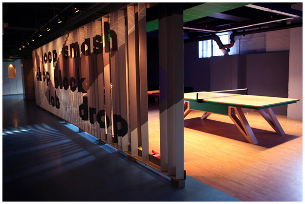 Spin ping pong bar & lounge, designed by New Yorker Todd Oldham.