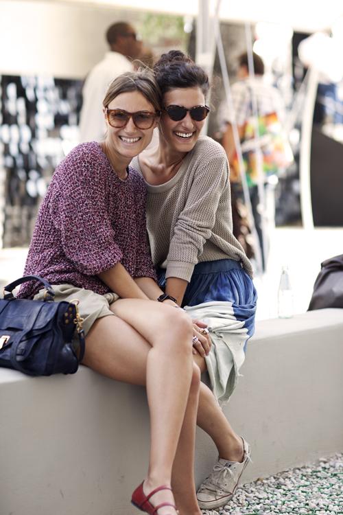 Giorgia & Giulia Tordini.via The Sartorialist.