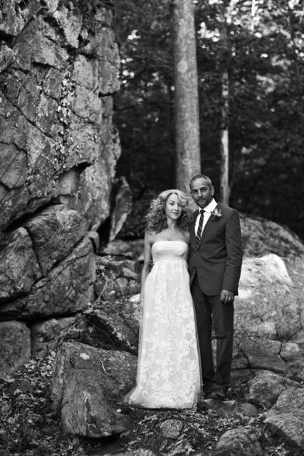 Carolina Herrera wedding dress.