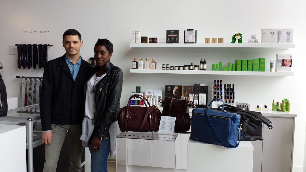Santanae with AANDD founder & designer Adam Davidson.