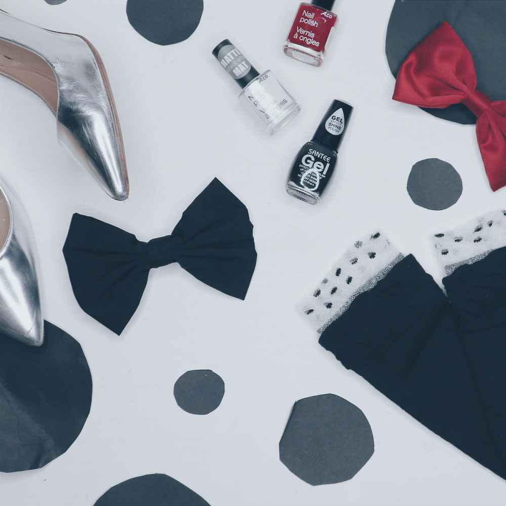 Sweet accessories that would do Minnie proud. All available at Ardene (heels excepted).