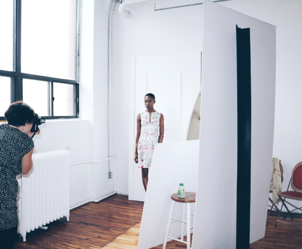 on set with  Anna Lisa Sang  and model  Badu Yiadom ,  Ciotti Models .