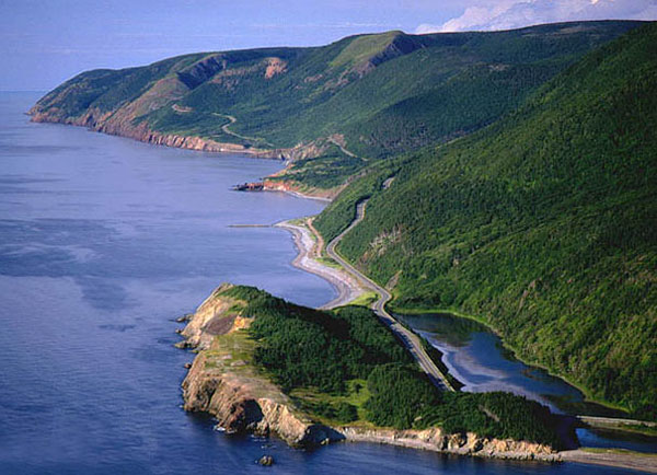 The Cabot Trail in Cape Breton.